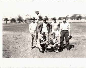 WWII US Soldier Boys ~ Vintage Snapshot Photo