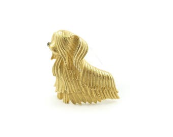 Vintage Marcel Boucher Dog Brooch, Yorkshire, Signed, N1