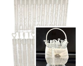 Wedding Bubbles x 24 Tube Wands with Liquid Ceremony Decorations Supplies