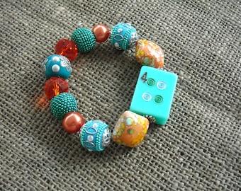 Mahjong Bracelet - Jesse James Beads Jewelry - Gift Idea - Mahjongg Jewelry - Mahongg Gift - Oriental Jewelry - Oriental Bracelet