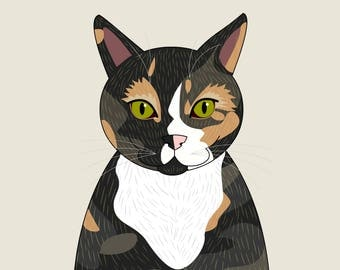 Custom Pet portraits Cat portrait Custom cat Portraits Cat illustration Custom pet Portraits Cat art Gift for cat lovers