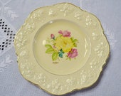 Vintage Ducal Rose Dinner Plate Crown Ware Hand Painted Decorative Plate England Panchosporch