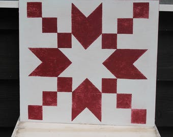 Red Quilt Square