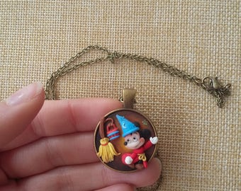Preorder. Mickey mouse necklace fantasia disney fanart