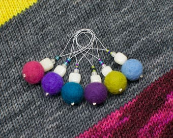 Stitch Markers - Set of 6 - Snag Free Knitting Notions in various colours