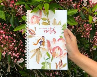 Sermon Notes, Sermon Notebook, Sermon Journal, Church Journal