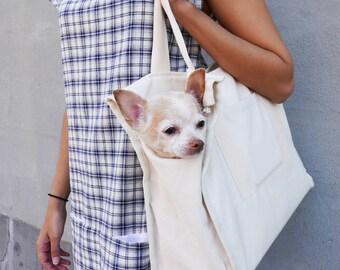 Canvas City Dog Tote With Pockets - Yay!