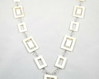Geometric shell necklace