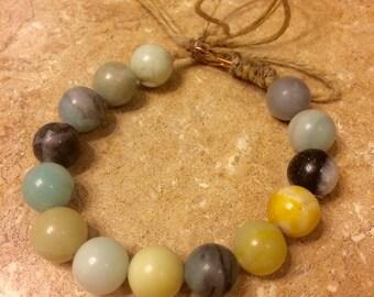Charleston beaded bracelet with hemp cording