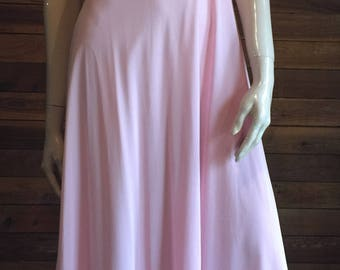Vintage Lingerie 1970s GOSSARD ARTEMIS Pink Size Small Nightgown