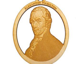 Alexander Hamilton Ornament - Americana Decor - Americana Gifts - Alexander Hamilton Party Favor - Personalized Free