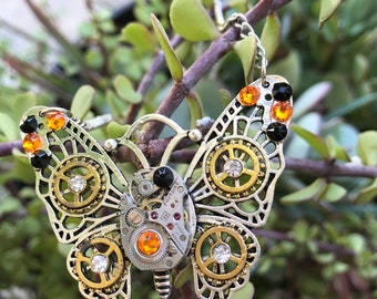 Butterfly Jewelry, Steampunk jewely, Women's Jewelry, Women's Necklace, Steampunk Necklace, Monarch Butterfly
