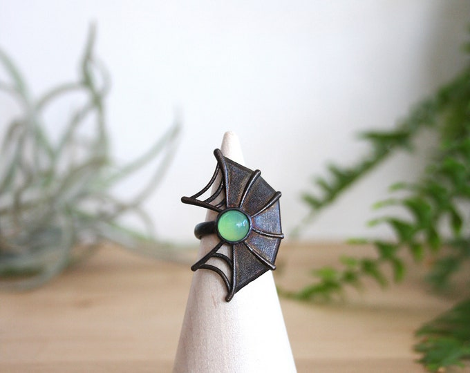 Web Ring - Bronze and Aventurine