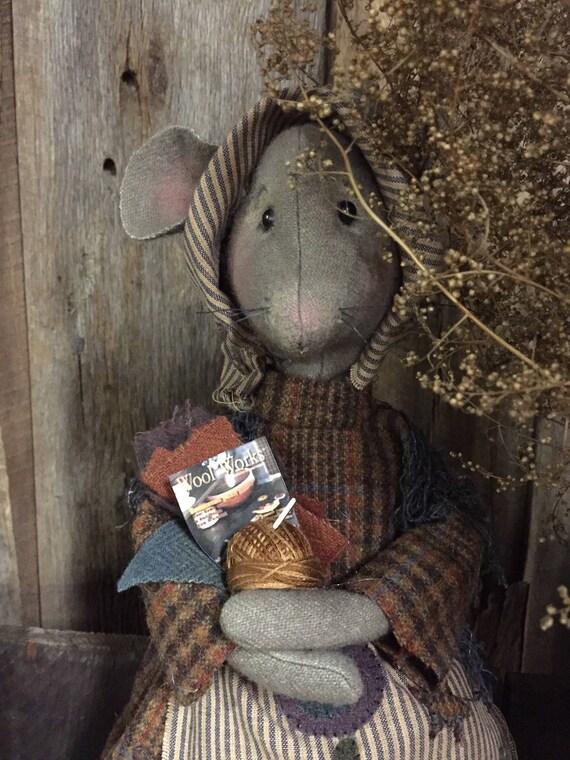 "NEW! Doll KIT: Vivian - 14"" Prairie Mouse Kit of supplies"