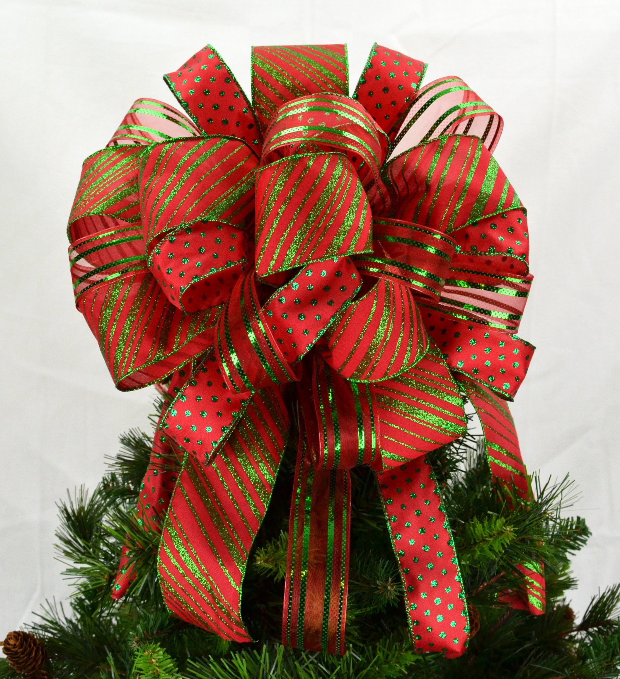 Christmas Tree Bow Topper Christmas Tree Bow With Streamers