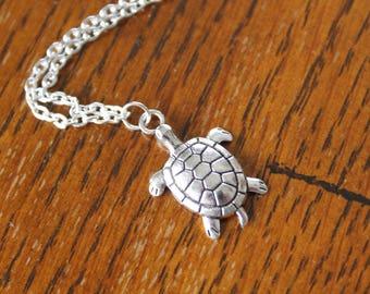 Silver Sea Turtle Ankle Bracelet, Turtles, Anklets, Ankle Bracelet, Silver Anklet