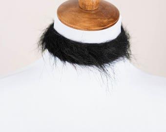 Black Faux Fur Choker