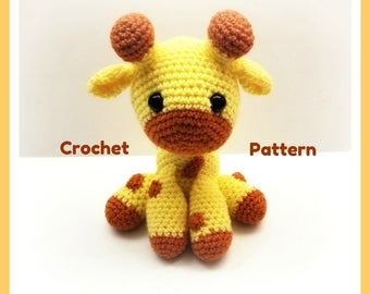 Crochet Pattern For Baby Giraffe PATTERN ONLY