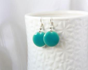 Earrings, earrings, sky blue enamel earrings, silver enamel earrings, enamel, enamel dangles