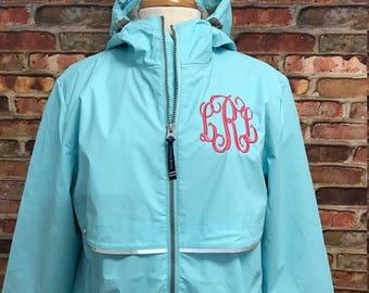 FREE SHIPPING - Monogrammed Charles River Rain Jacket - Monogrammed Rain Coat - Monogrammed Rain Jacket - Monogrammed Jacket
