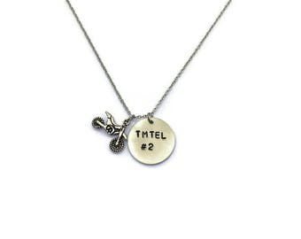 Motocross Necklace - Motocross Jewelry - Dirt Bike Necklace - Motocross Gifts- Racing Jewelry - Quad Necklace - Motocross - Custom Necklace