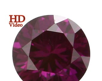 2.50 MM 0.06 Ct Natural Loose Diamond Round Shape pink Color VS1 Clarity L1571