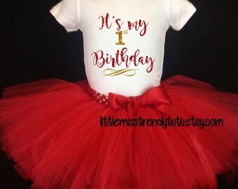 First Birthday Outfit, Girls Birthday Tutu, First Birthday Girl Outfit, Birthday Tutu, 1st Birthday Tutu Set, 1st Birthday Tutu, Cake Smash