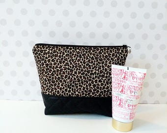 40%OFF Leopard Large Makeup Pouch / Cosmetic Bag
