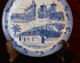 Alfred Meakin Old English Staffordshire Ware St. Augustine, Florida Collector's Plate