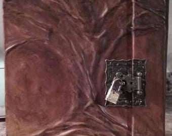 Leather Journal Tree of life Book of Shadows grimoire for THE NEW WITCH  Wicca Pagan Spells Book of Shadows grimoire Witch book Journal  old