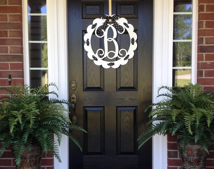initial wreaths for front doorMonogram Door Wreaths  Make it Personal at House Sensations Art