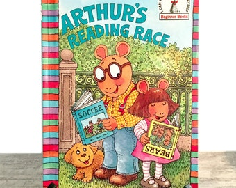 Arthur's Reading Race by Marc Brown, Step Into Reading Beginner Books, Aardvark Animal Characters, Easy Read, Childrens Book, 1996