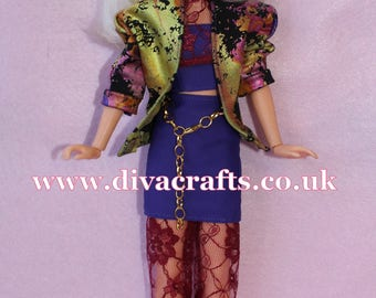 Handmade by Cazjar Jem and the Holograms Hasbro Doll Fashion Madonna Inspired Dress You Up