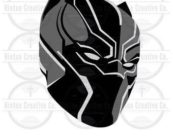 Black Panther Mask Digital Cut File Print File SVG Circuit Silhouette Brother Image Custom Unique Design