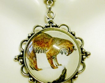 Lynx pendant with chain - CAP26-032