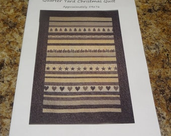 """TWO COLD FEET """"Quarter Yard Christmas Quilt"""" 2012"""