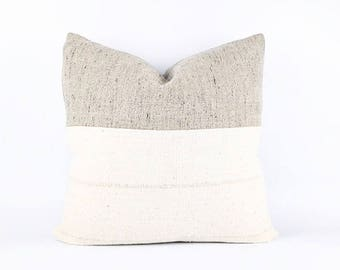 Authentic Flax With Black Belgian Linen And African Mudcloth Pillow Cover Various Sizes