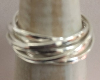 Sterling Silver Ring 6 Bands