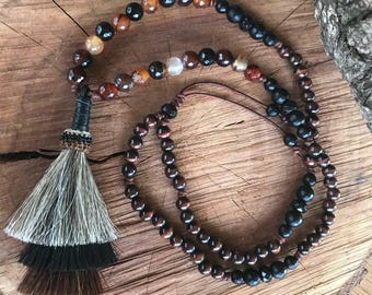 Horsehair tassel necklace,horsehair necklace,tassel necklace,western necklace,cowgirl jewelry,equine jewelry,horse jewelry