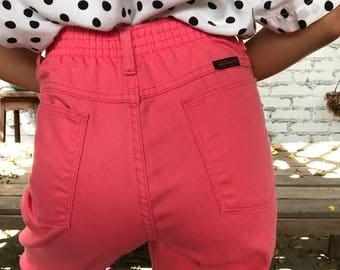 Vintage Straight Leg Denim High Rise Mom Jeans Colored Pants