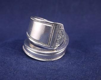 "Spoon Ring 1923""Anniversary"" Handmade Spoon Jewelry size 7"