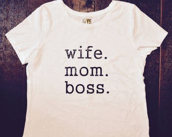 VG wife mom boss shirt