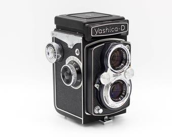 Yashica Camera // D 6x6 TLR // 120 Film // 80mm f/3.5 Yashikor Lens // Film Tested & Working