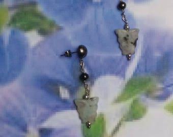 Pendant earrings with Butterfly in Rhymer