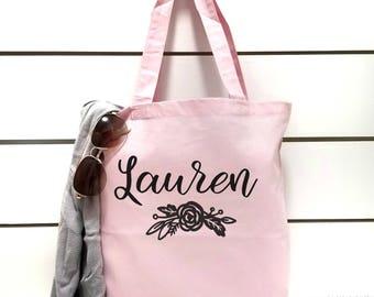 Bridesmaid Gift Tote.Maid Of HonorTote.Bridesmaid Tote Bag.Gift Bag.Mother of the Bride Gift.Flower Girl Tote Bag.Bridal Party Gift.Hot Pink