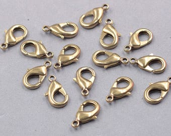 20Pcs 19mm Raw Brass Lobster Clasps GY-S071904