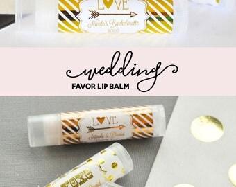 Personalized Wedding Favors - Cheap Wedding Favor Ideas - Practical Wedding Favors - Wedding Lip Balm Favors (EB3031FW) set of 16 