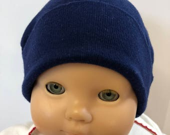 "15 inch Bitty Baby Doll Hat, Cool ""NAVY BLUE"" Doll HAT, 15 inch Bitty Baby Clothes or Twin Doll, 15 inch Baby Doll Clothes"