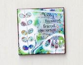 Green Magnets - Magnetic Board Art - Office Magnets - Fridge Magnet - Good Friend Gift - Inspirational Magnets - Little Gift - Art Magnets