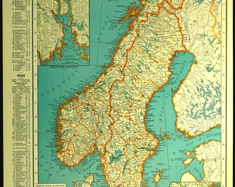 Norway Map Etsy - Map of norway